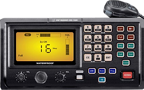 Equipo VHF DSC en simulador GMDSS Radio Operador