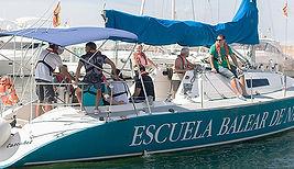 Practicas a Vela. Velero de Escuela Balear Nautica