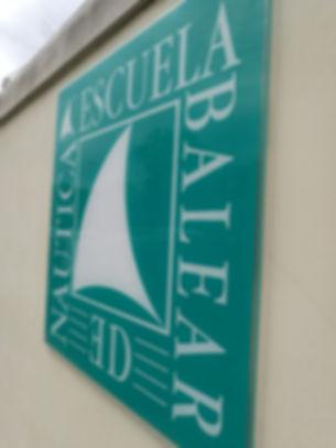 Rotulo Escuela Balear de Náutica. Títulaciones náuticas