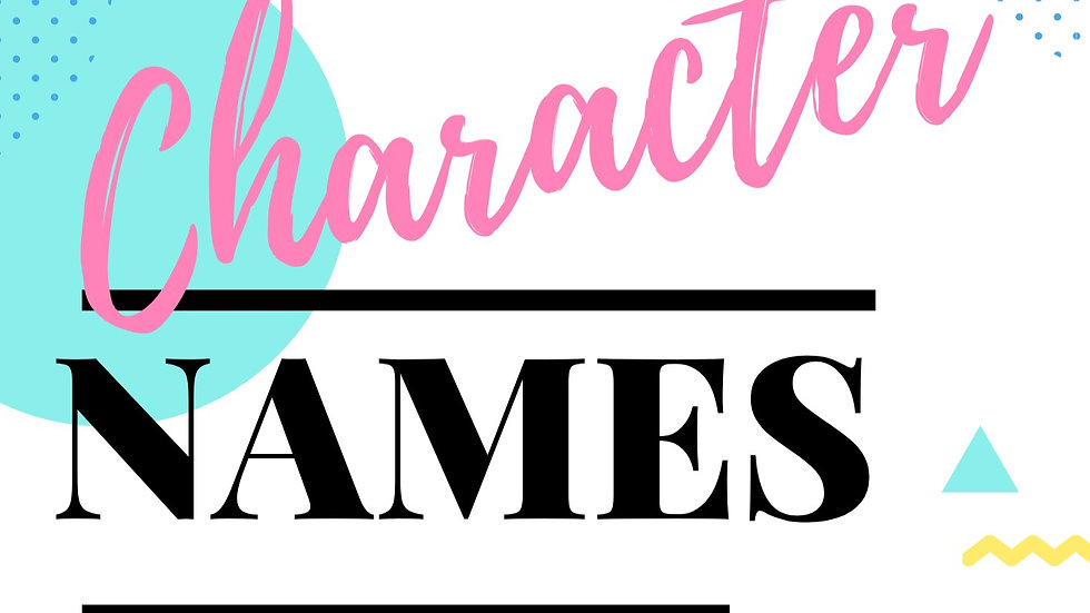 Newbie's Guide: 1040 Character Names