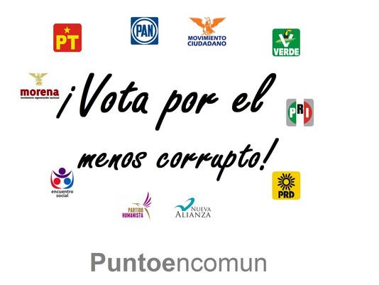 Vota por el menos corrupto