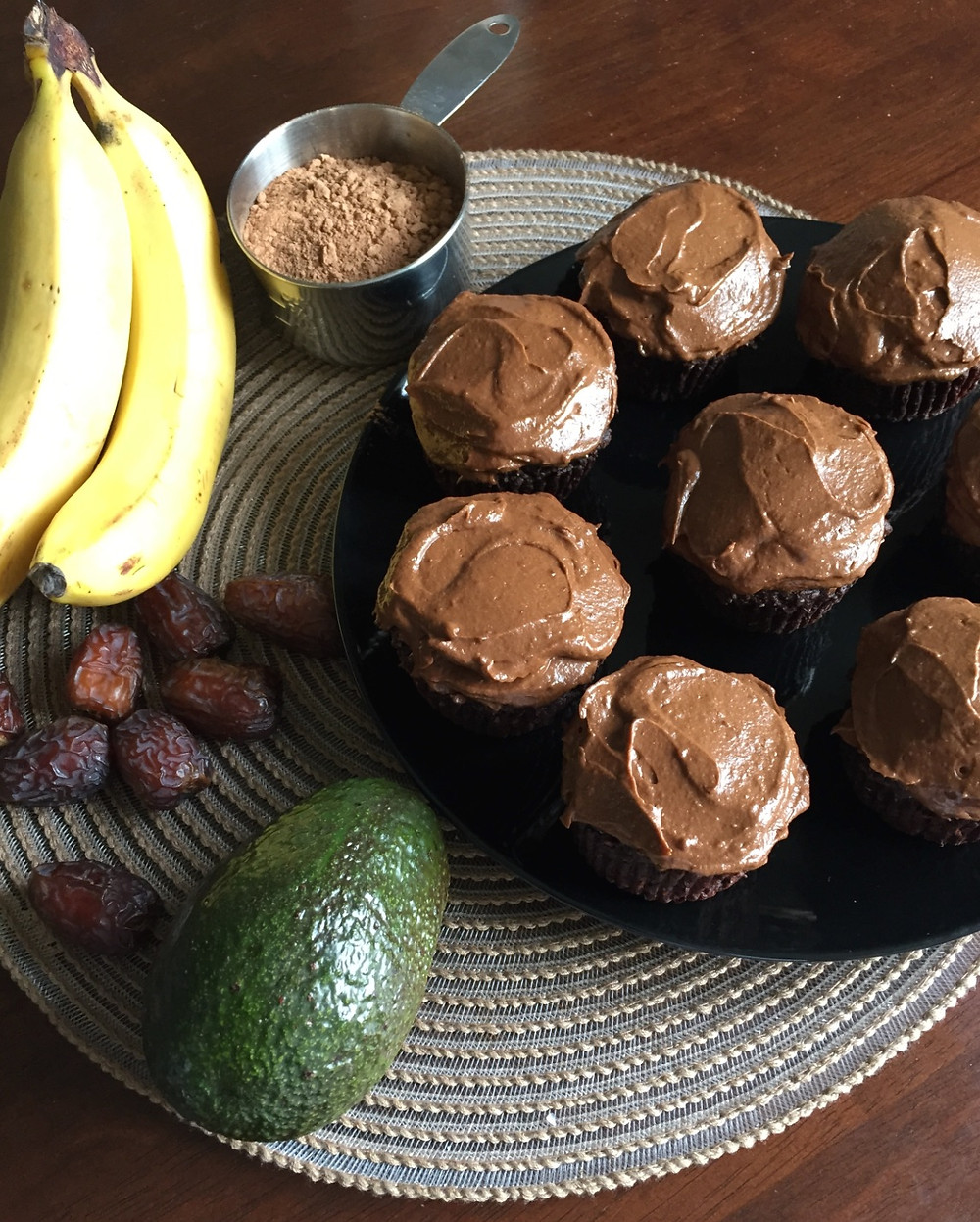 Chocolate Avocado Muffines