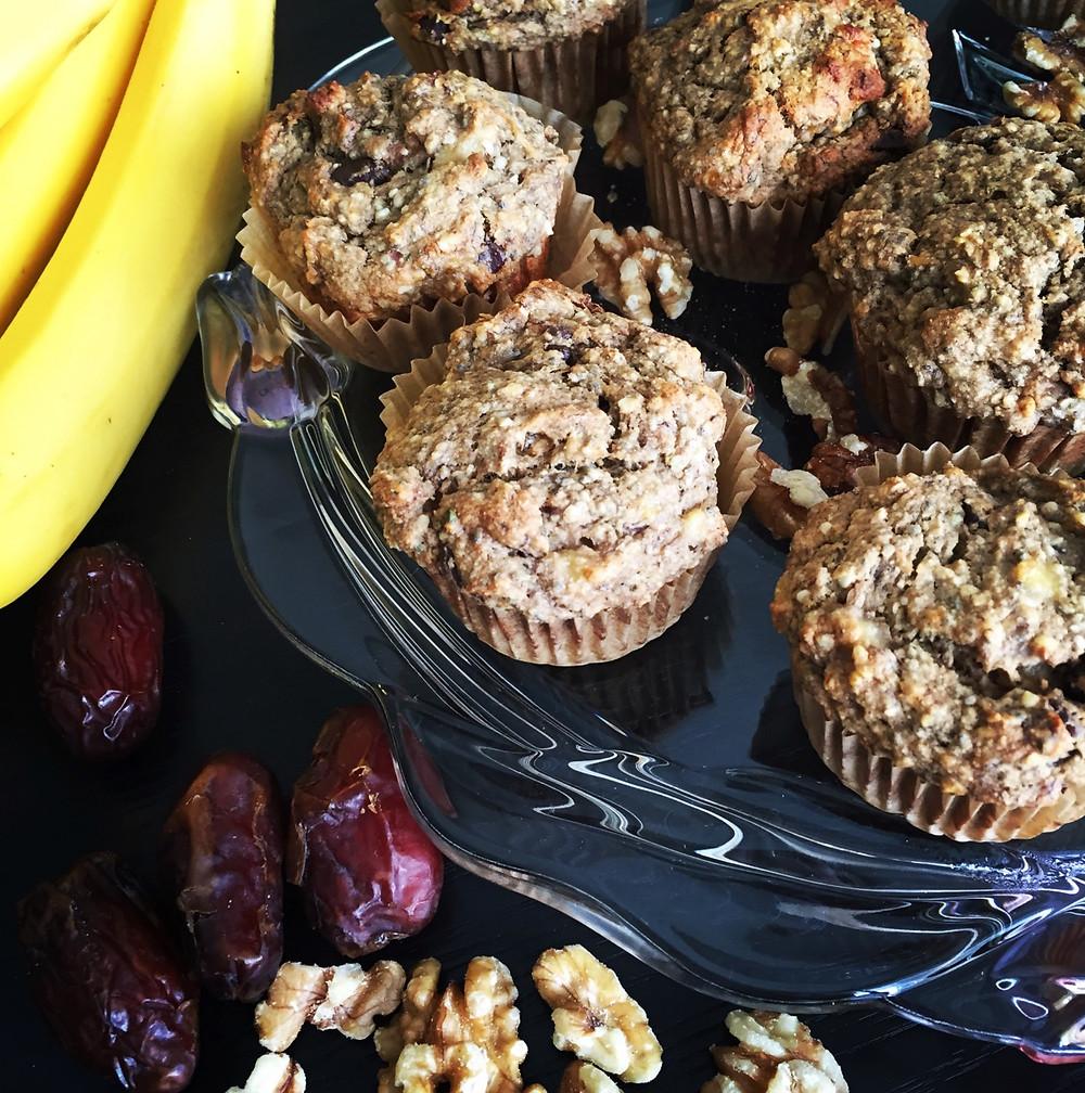 Hooray Truffles Banana Walnut Chocolate Chunk Muffins