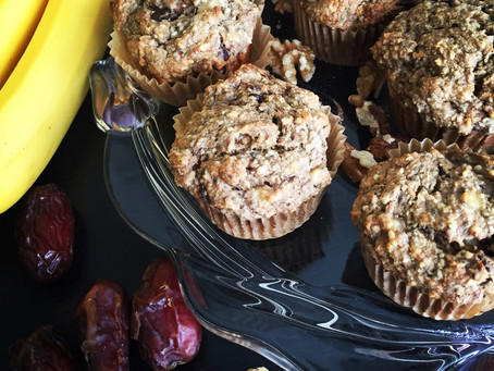 Banana Walnut Chocolate Chunk Muffins