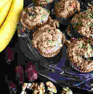 Hooray Truffles Banana Walnut Chocolate Chunk Muffins