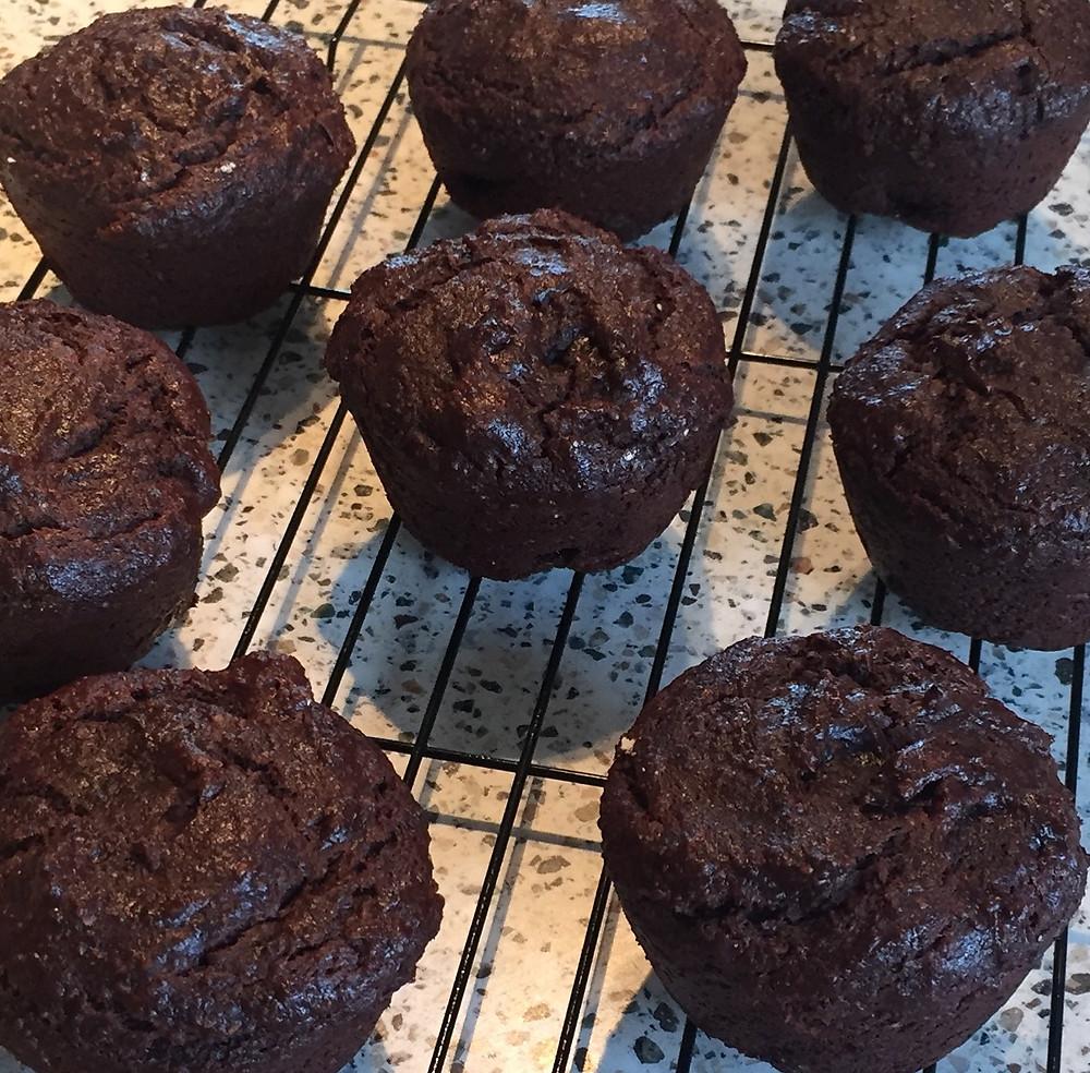 BEST chocolate gluten free vegan sugarfree muffins