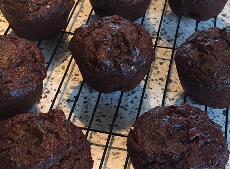 Chocolatey Gluten Free Sugarless Vegan Muffins
