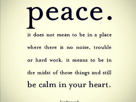 Today I Choose Peace