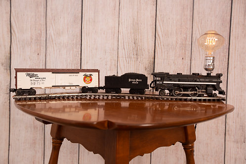 Lionel Train Touch Lamp with Miller Beer Car