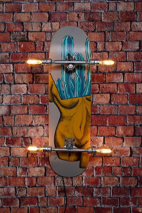 Hand  Painted Skateboard Light with Dimmer
