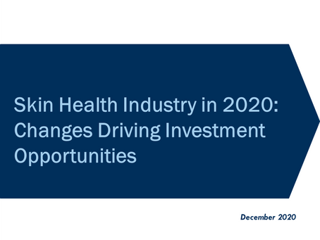 White Paper - Skin Health Industry in 2020: Changes Driving Investment Opportunities