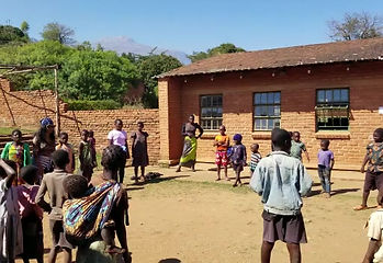 Lorna Playing with the Children in the Village