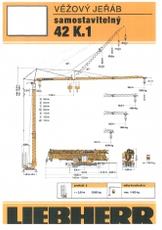 TRADIX Jeřáb LIEBHERR 42 K.1 věžový