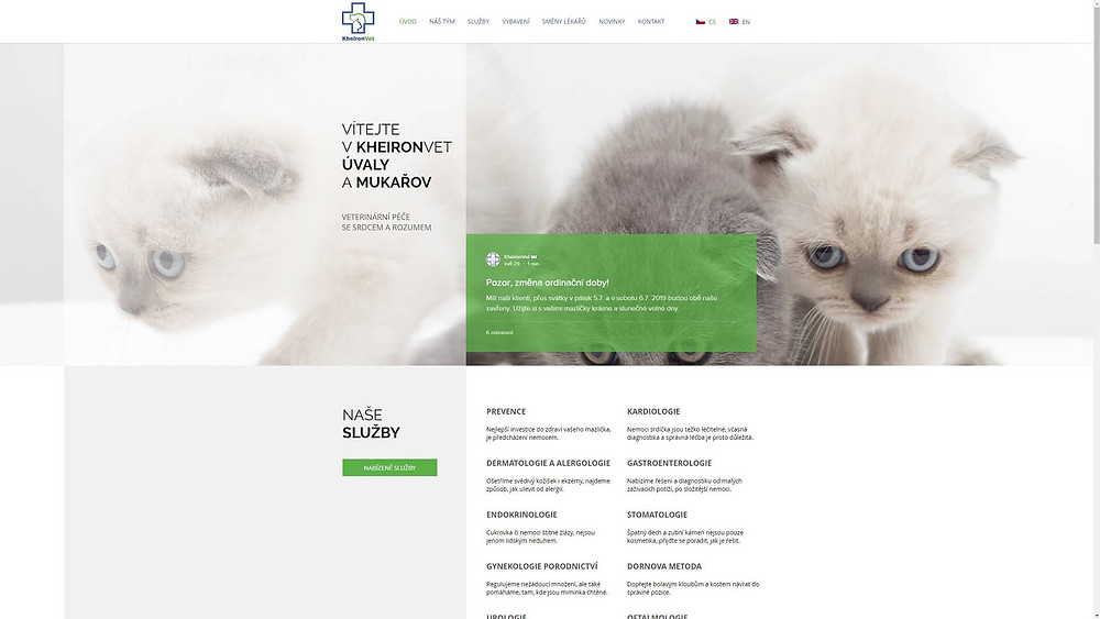 KheironVeto - Náš nový web