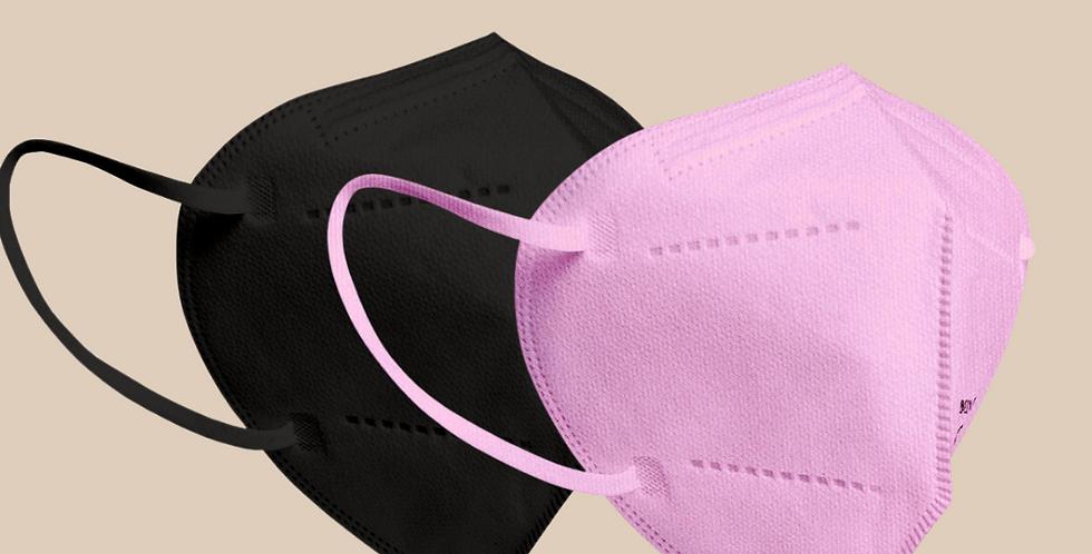 CE-zertifizierte FFP2 Atemschutzmaske in pink oder schwarz
