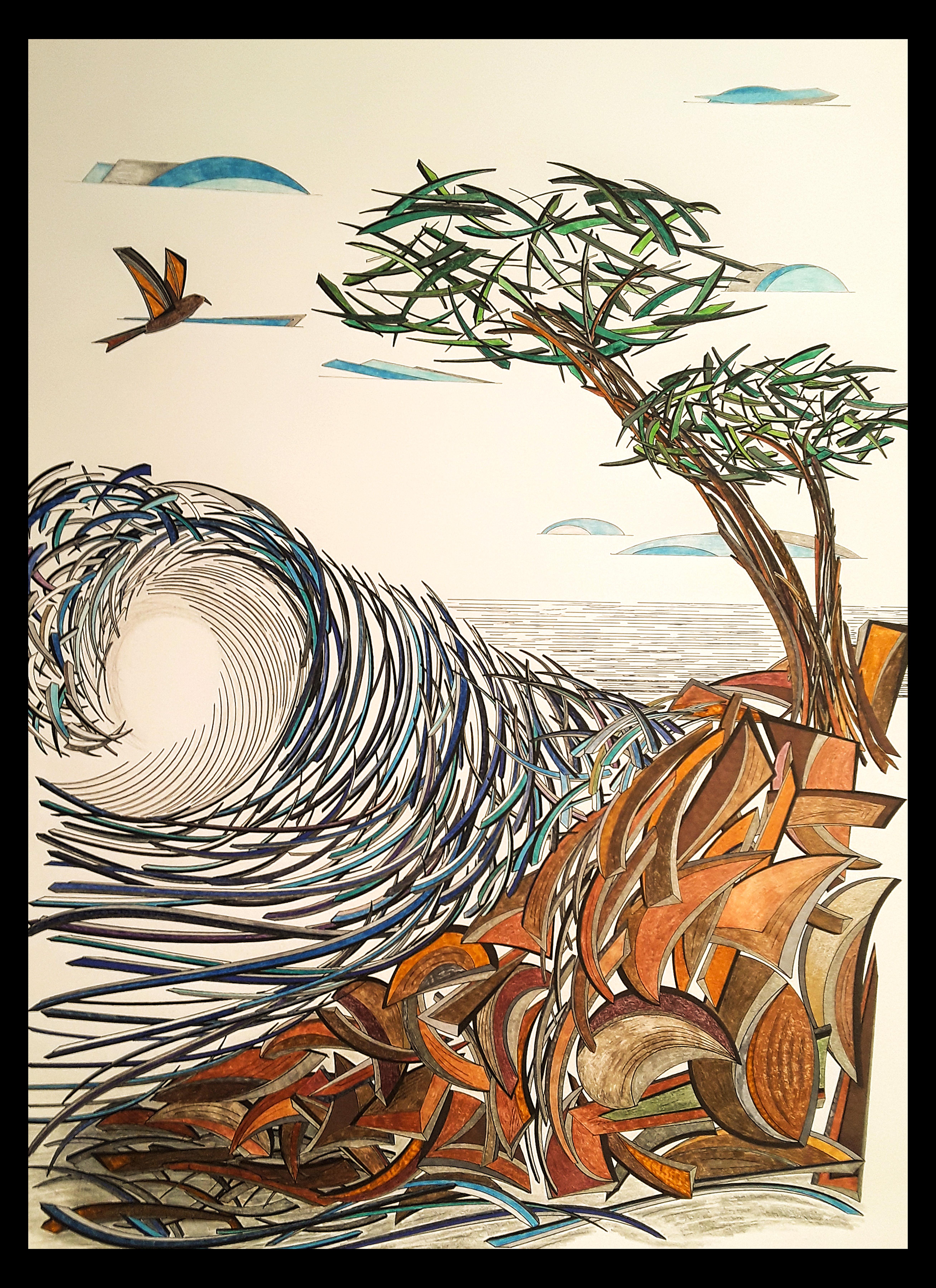 """An Ocean Wave 18x24"""""""