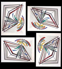 Falling Square Digital Mosaic