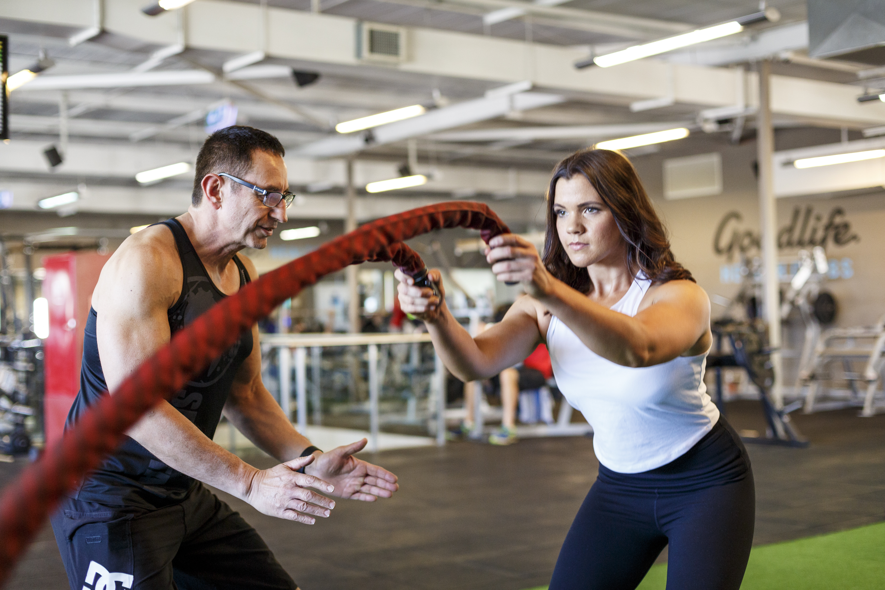 Michael rope training with woman