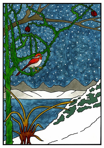 CJ Hurley: The Majesty of Winter Holiday Card