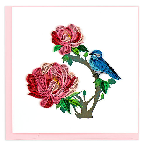 Quilling Card, Peony