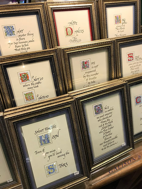 Illuminate Letter Calligraphy Framed Quotes