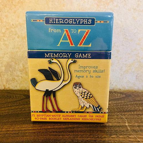 Hieroglyphs A to Z Memory Game