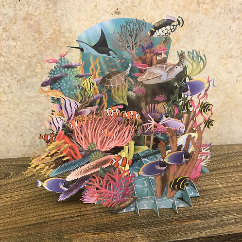 Coral Reef Pop Up Greeting Card