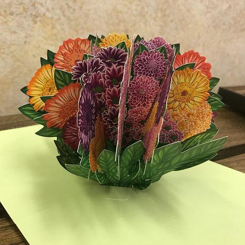 Flower Bouquet 3D Greeting Card