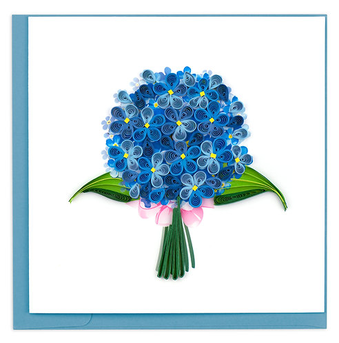 Quilling Card, Hydrangea