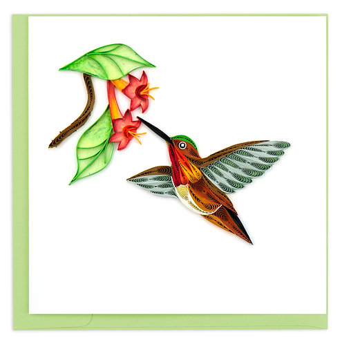 Quilling Card, Hummingbird