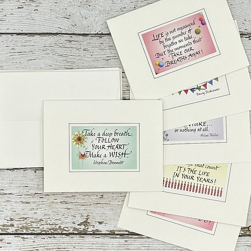 Assorted Birthday Cards, Set of 6