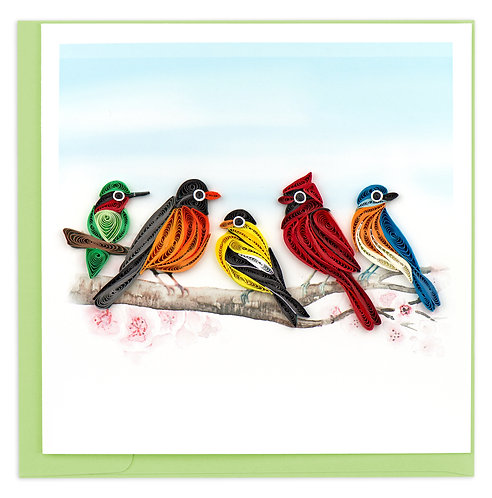 Quilling Card, Songbirds