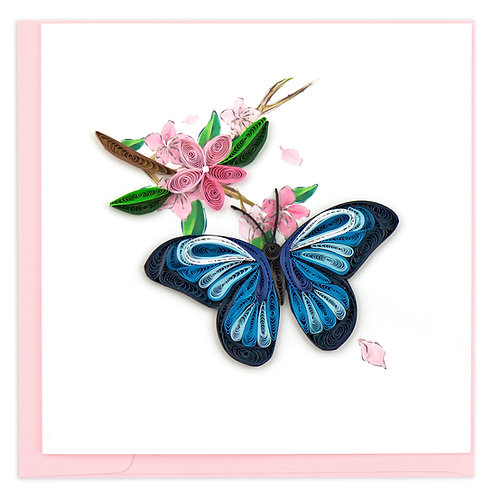 Quilling Card, Blue Butterfly