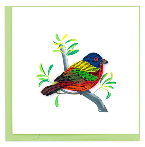 Quilling Card, Painted Bunting