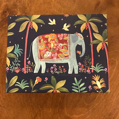 Bohemian Elephant Notecard Box