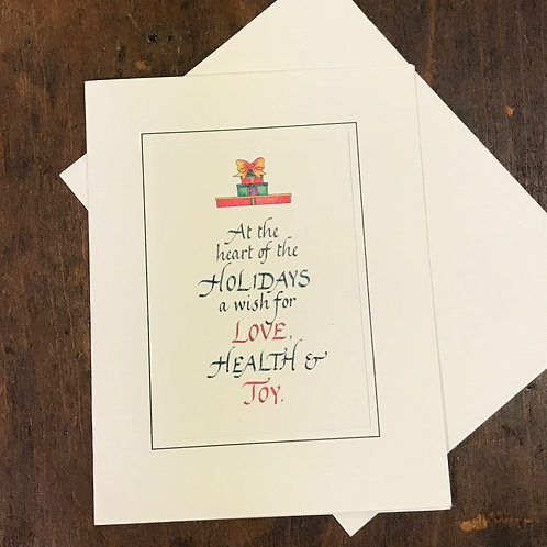 The Heart of the Holidays Notes
