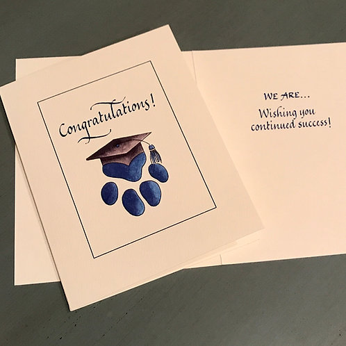 Paw Prints Graduation Card Set