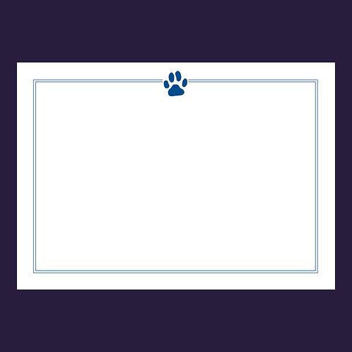 Paw Print Correspondence Cards & Envelopes