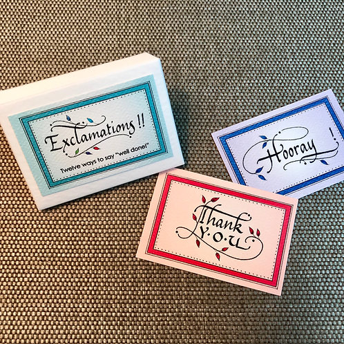 Exclamations Enclosure Cards