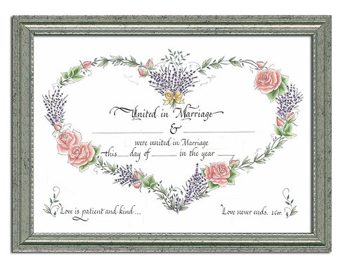 Custom Calligraphy Marriage Certificate