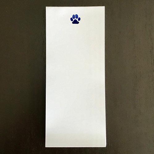 Paw Prints Notepad