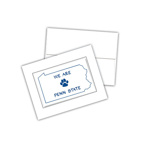 We Are PA State Paw Print Notecards