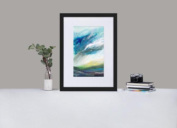 Highland Rain Framed Print with Mount