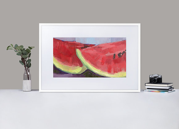 Watermelon Framed Print with Mount