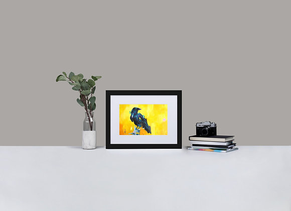 Raven Framed Print with Mount