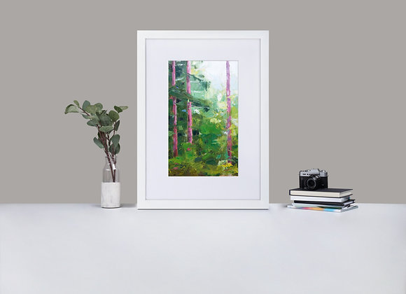 Stories from the Forest Framed Print with Mount