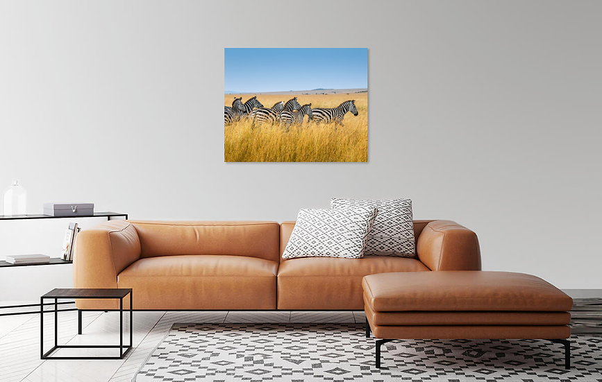 """Zebras in the savannah"" - Print"
