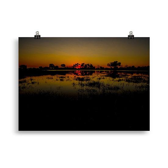 """In the Dark"" - Zimbabwe Landscape Print"