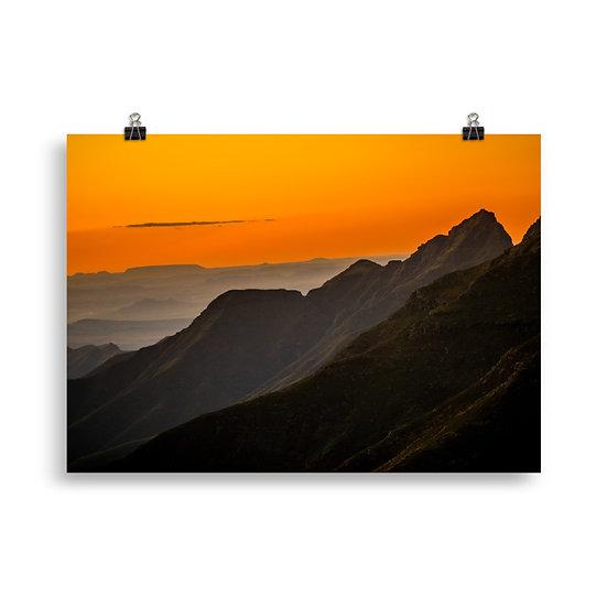 """Mountain Range"" - Africa Print"