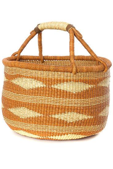 Ghana Caramel Handwoven Bolga Basket